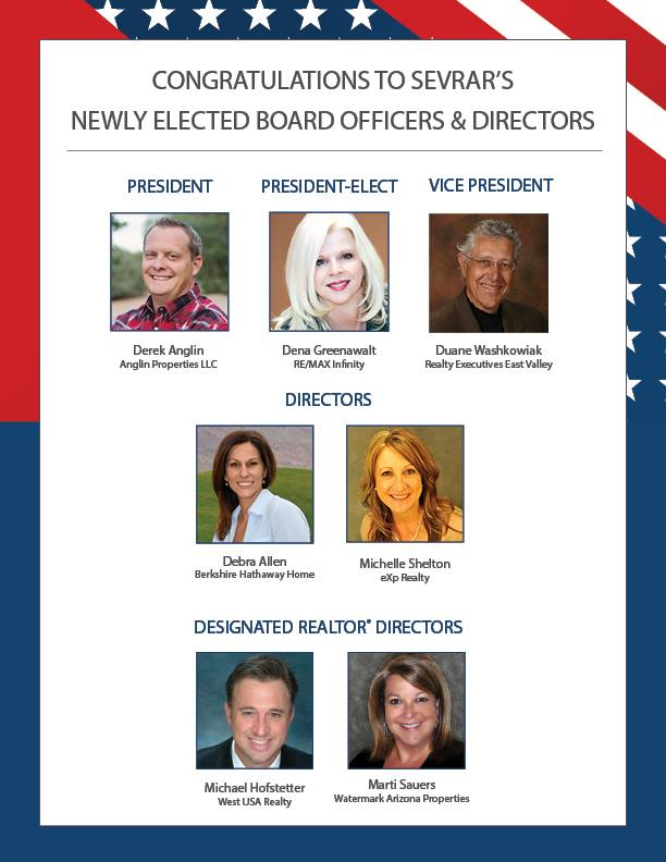 Congratulations to SEVRAR's Newly Elected Board Officers and Directors