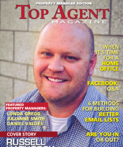Russell Hathcock was Featured as a Top Real Estate Agent in the Property Manager of Top Agent Magazine in December 2016